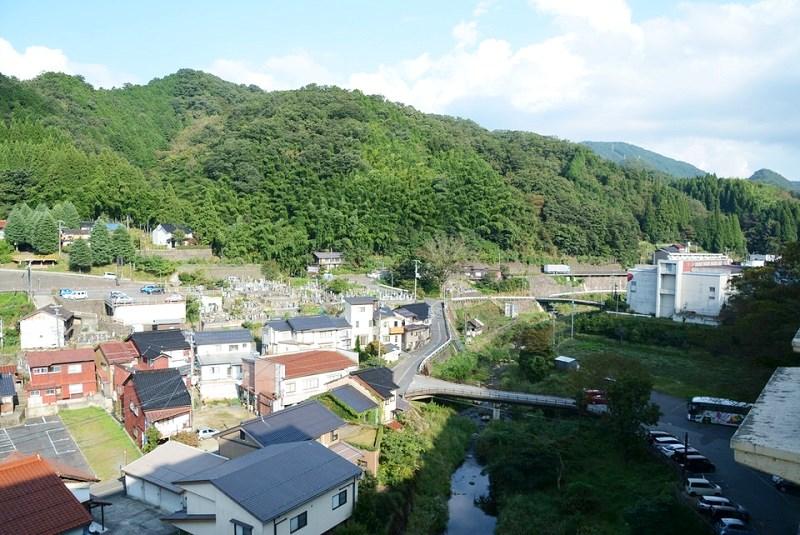 湯村温泉三好屋の部屋から見える眺め