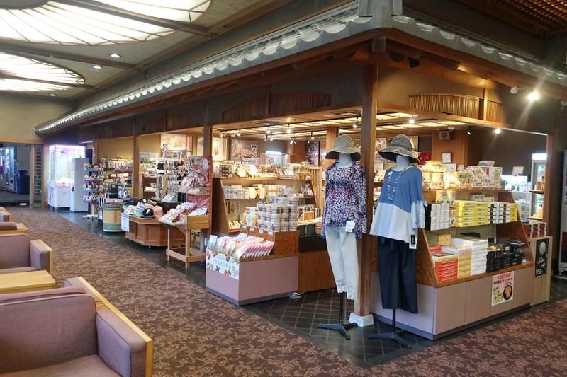 湯村温泉三好屋のお土産売り場