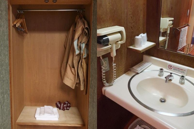 湯村温泉三好屋のクローゼットと洗面所