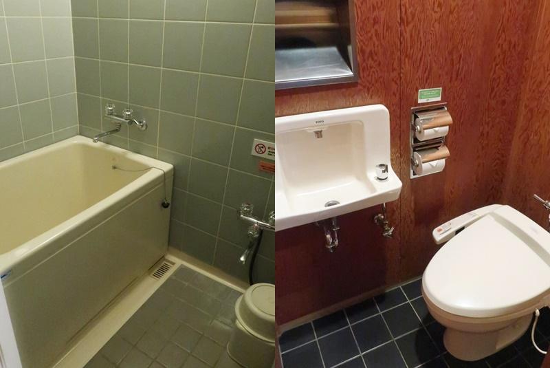 湯村温泉三好屋のお風呂とトイレ