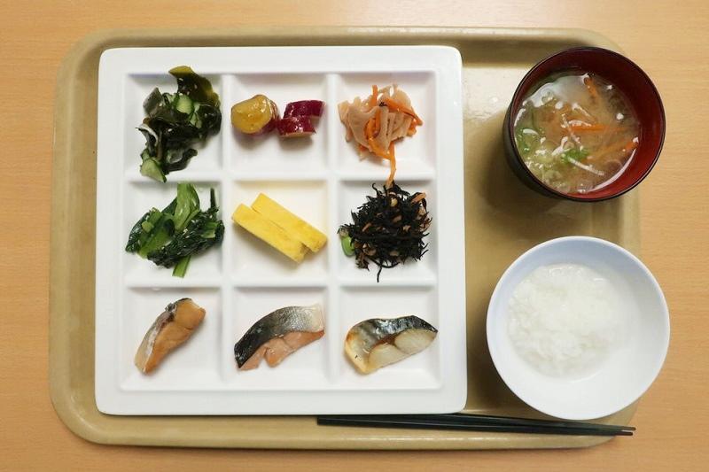 湯村温泉三好屋の朝食