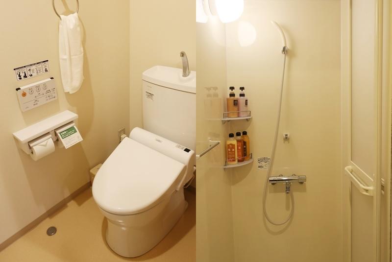 湯村温泉ゆあむのトイレとシャワールーム