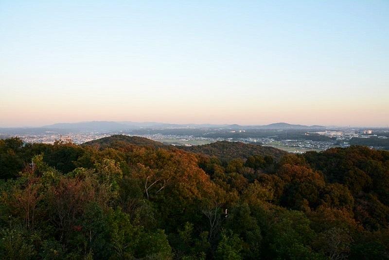 三木市の正法寺展望台から見える三木市街方面