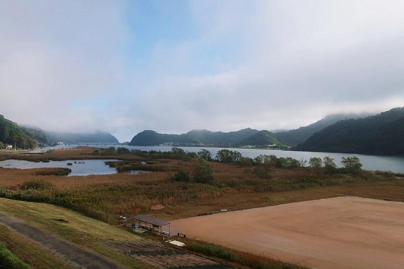 大江戸温泉きのさきの洋室から見える風景