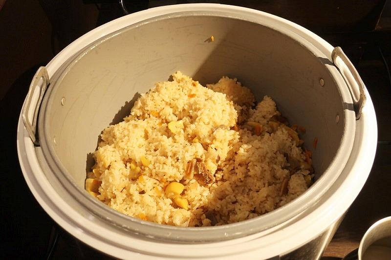 大江戸温泉きのさきの栗ご飯