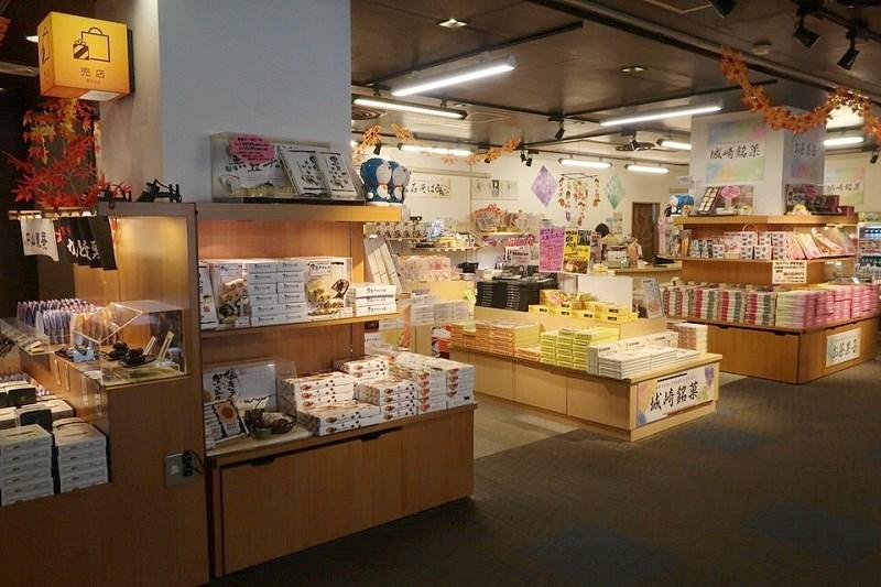 大江戸温泉きのさきのロビーにある売店
