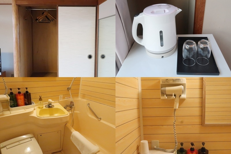 湯快リゾート嬉野館のバスルームやクローゼット