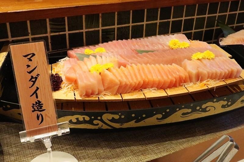 湯快リゾート嬉野館の食事(お刺身)
